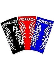 yokkao Bandage Pied professionnel, Tribal Ankle Guards, kickboxing et MMA Muay Thai (Jaune Fluo)