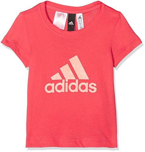 Adidas YG Logo Mädchen T- Shirt, rot (real coral s18/haze coral/Chalk coral s18), 164