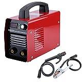 MMA200 200A 220V Inverter E-Hand Schweißgerät Elektroden MMA Elektrodenschweißgerät IGBT (Rot)