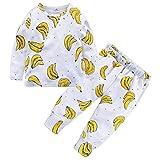 Mounter Enfants Ensemble, Bébé Garçon Fille Manches Longue Garçon Pyjamas[ Fruit ] [ Banane ] (18 Mois)