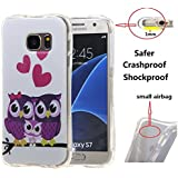 Galaxy S7 Edge Housse Silicone,TPU Coque Silicone Protection pour Samsung Galaxy S7 Edge G935 (5,5 Pouces) Soft Gel Case Cover Etui,Hibou violet