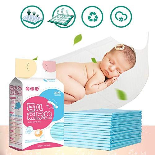 iBaste_top Trockene Pflegetücher Babys Wasserdicht Atmungsaktiv Einweg Underpad Windel Pflege Protector Bett Stuhl Pad Inkontinenz Protector für Erwachsene Kind Oder Haustiere Saugfähige Wasserdichte