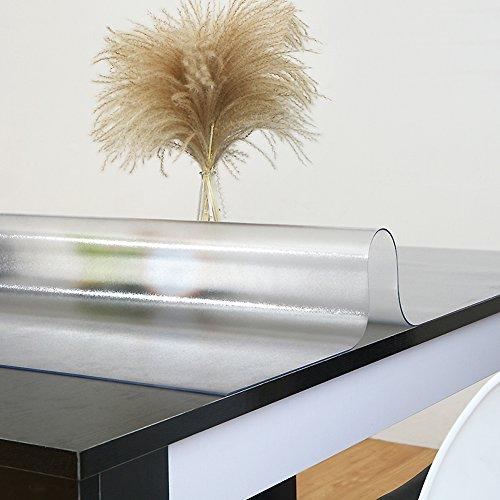 Le tovaglia pvc impermeabile ispessita morbida cucina trasparente resistente all'usura tovaglietta da tavola in plastica di cristallo facile da lavare,1.5mm_100x180cm