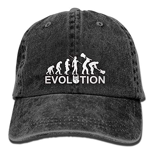 Unisex Washed Retro Denim Hats Adjustable Lightweight Breathable Baseball Cap Evolution of Heavy Metal Music Trendy Dad Hat Stetson Hat Snapback Trucker Hat Basecap Snapback Outdoor Baseball Kappe