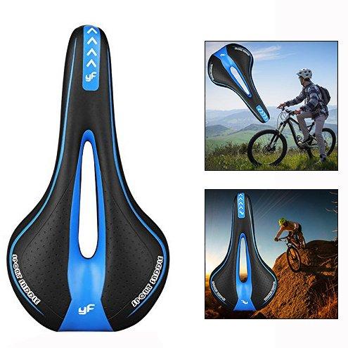 OFKPO Komfort Fahrradsattel,Mountainbike Sattel/Fahrradsitz/Rennrad Sattel/Cityrad Sättel(Schwarz und Blau)