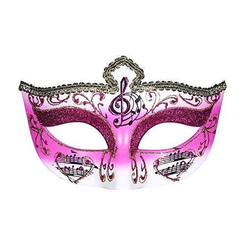YaPin Half Face Lady Crown halbe Gesichtsmaske schwarz und weiß Gentleman Party Weihnachten Performance Ball Venedig Maske (Color : Rose) (Lady Pink Tote Halloween)