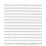 1Rollo/50m² Recubrimiento tejido Putz tejido Completo Protección del calor 165g/m², color blanco.