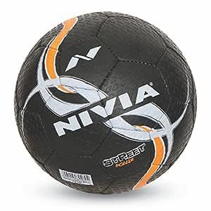 Nivia Street Rubber Football, Size 5 (Black)