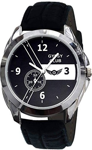 GYPSY CLUB Quartz Movement Analogue Black Dial Unisex Watch - GCM188D
