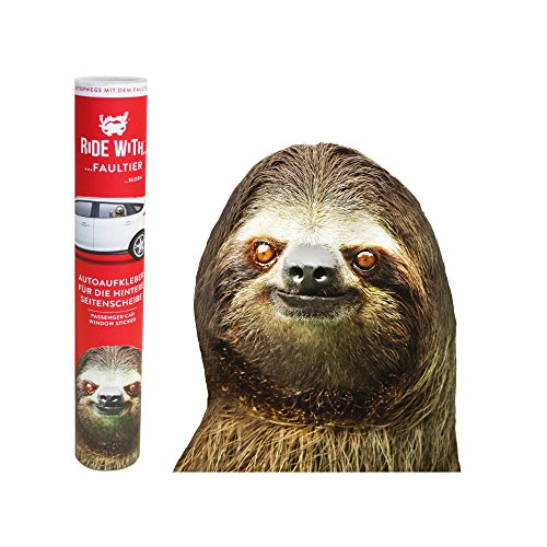"""Thumbs Up RW-SLTHLHD - Ride With A Sloth - Fenstersticker \""""Faultier\"""""""