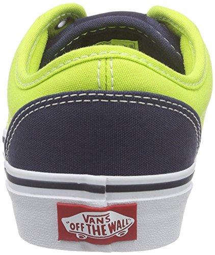 Vans Atwood, Baskets Basses Garçon Multicolore (2 Tone/Lime/Blue)
