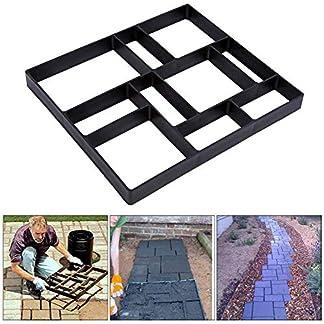 Molde para Cemento, Molde para Hormigón, Molde para Hacer Pavimentos/Caminos/Suelos de Jardín, Patio, Balcón, Terraza, de Plástico Resistente, 45X40X4cm