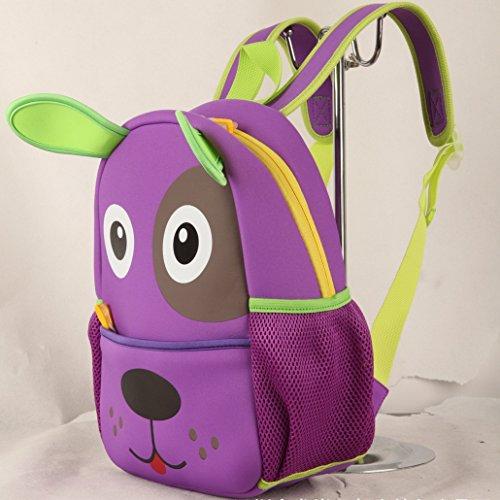 Imagen de happy cherry  3d superligera  infantil escolar impermeable ergonómico animal para niños niñas bebés  perro  violeta alternativa