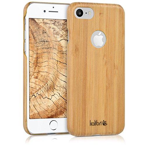 kalibri-Holz-Case-Hlle-fr-Apple-iPhone-7-Handy-Cover-Schutzhlle-aus-Echt-Holz-und-Kunststoff-aus-Bambusholz-in-Hellbraun
