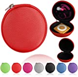 Magic Global Gadgets® Blue Storage Bag Universal Carrying Clamshell Pouch Case Cover For MP3, Earphones, Headphones, iPod Shuffle, iPod Nano 6, Apple Watch Sport, Memory Cards, Gym Use