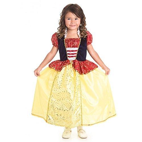 Little Adventures Wenig Abenteuer traditionellen Snow White Mädchen Prinzessin Kostüm-Medium (3-5Jahre) (Snow White Prinzessin Kostüm)