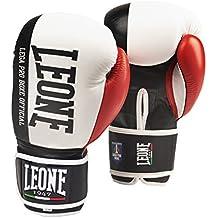 Leone Contender GN049 - Guantes de boxeo, talla 10 onzas, color blanco y rojo