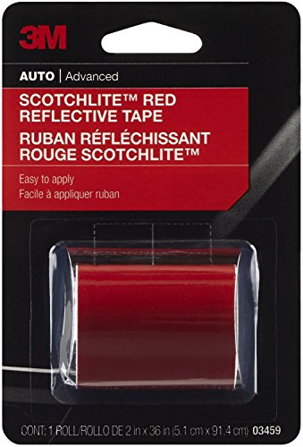 3M Scotchlite Reflective Tape, Red, 2-Inch By 36-Inch by 3M 3m Scotchlite Reflective Material