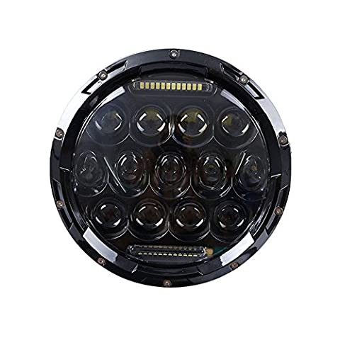 Funlove 7 Inch 75W Daymaker Projector LED Headlight Assembly for Harley-Davidson Motorcycle