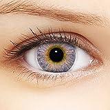 Linsenfinder Farbige Kontaktlinsen Lila '3Tones Violet' + Behälter für HELLE Augen ohne und mit Stärke lilane Kontaktlinsen farbig