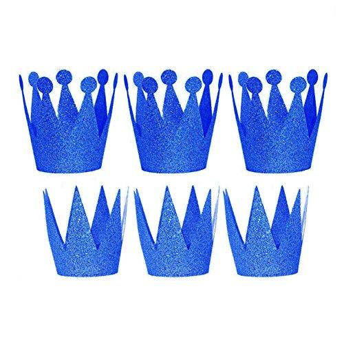 6Pcs Geburtstagskrone Stirnband Hüte Party Festival Dekoration Zum -