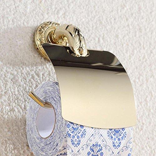 GuoEY Retro Gold Behälter für die Lagerung von Papier Toilettenpapierhalter für WC-Zubehör für Badezimmer Tür Wall-Door Roller-Fabric Stoffverdeck des Bereichs etablierten Distributoren (Stoffverdeck)