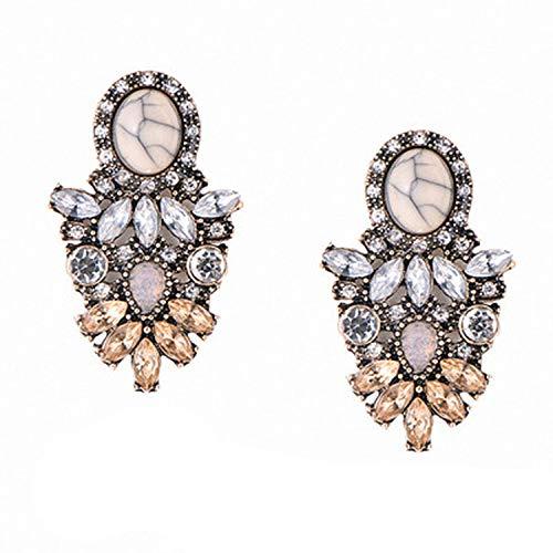 Orecchini pendenti da donna in cristallo austriaco rosa champagne con strass e lega, regolabile, colore: e01, cod. 15-jqq6i4wuhiligygz8jya
