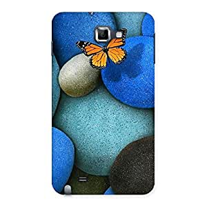 Delighted Pebbls and Butterfly Multicolor Back Case Cover for Galaxy Note