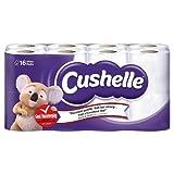 Cushelle White Toilet Tissue, 16 Rolls