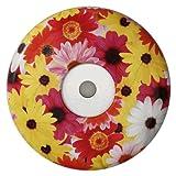 2er Set Cliqloc Dosendeckel Flower Power 20 ROTGELB - Verschluss- und Frischhaltesystem für Getränkedosen -