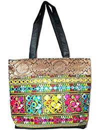 Great Gifts Rajasthani Mirror Work & Embroidered Mulit-Color Sling Bag For Ladies & Girls - B076JGRQNZ