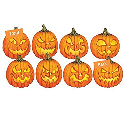 Scary Jack-O-Lantern Cut Outs 35cm (Pack of 4)