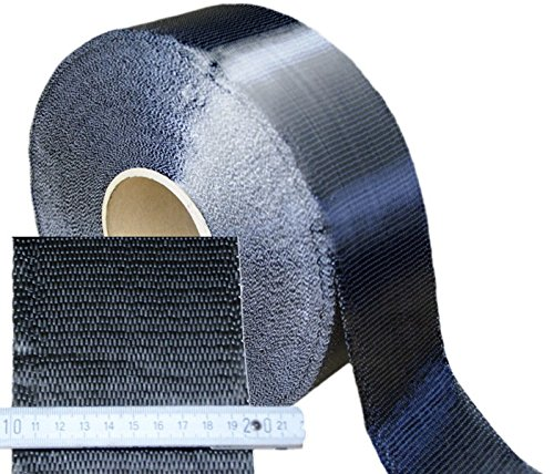 1m 200g/m² Unidirektional Carbongewebeband 100mm breit