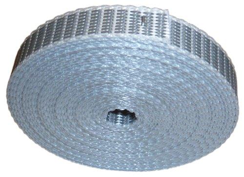 10m Rollladen & Jalousien extrem Nylon Mini Gurtband 14mm auf Maß mit Perlonkantenschutz -