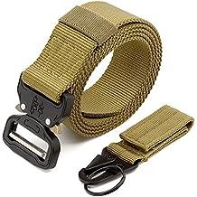 MINHER Hombres Cobra Metal Hebilla Cinturón De Nilón Y Rápido Quitar Llavero Correa Táctica CQB Rigger Cinturón g7Kfelb