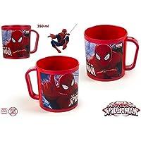 DISOK - Taza Spiderman 350Ml - Tazas Spiderman Cumpleaños Infantiles Baratas Regalos para Niños