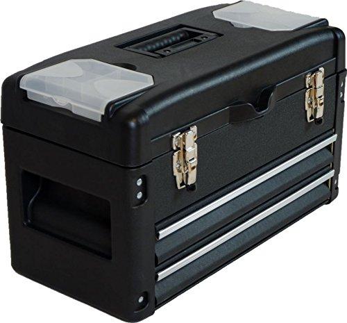 METALL Werkzeugkiste mit 6 Funktionen WK2-B BLACK EDITION von AS-S