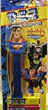 Justice League SUPERMAN PEZ Dispenser with 3 Pack Candy Refill on Blister Card by Pez Candy