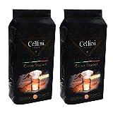 Cellini Crema Speciale Ganze Bohne, 1000 g, 2er Pack (2 x 1 kg)
