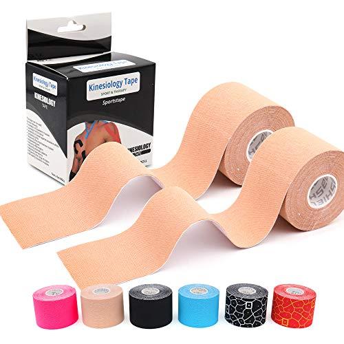 LEANKING Kinesiologie Tape in verschiedenen Farben (5m x 5cm) Kinesiotapes wasserfest und elastisch - Physiotape Kinesiotape Sporttape - Kinesio Tapes