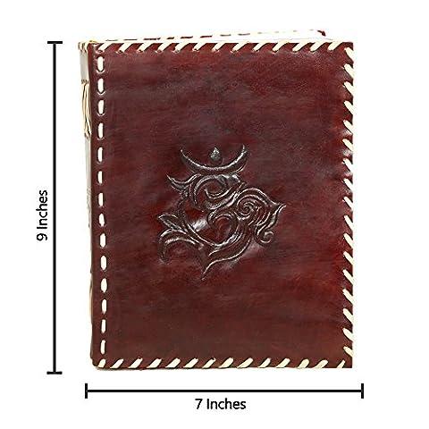 Alian handgefertigt Leder Tagebuch Tägliche Notebook Diaries Einband Zusammensetzung Notebook für Männer Frauen Diwali Christmas Gifts Braun