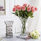 XPHOPOQ Unión estilo flores artificiales Rosa JARDIN interiorBoda Decoración navidad Regalos rojo