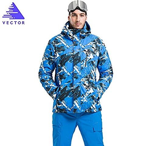 VECTOR Men's Waterproof Windproof Breathable Cotton Padded Mountain Jacket Winter Coat Snowmobile Snowboarding Ski Jacket Men for Skiing Climbing Camping