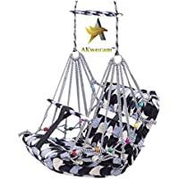 AKworam™ Cotton Swing for Kids Baby's Children Folding and Washable 1-3 Years with Safety Belt Home Garden Jhula for…