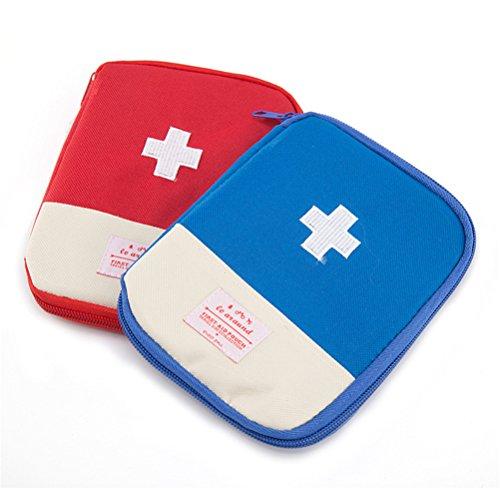 Qearly Oxford Tuch Compact First Aid Tasche Erste Hilfe Tasche-Blau