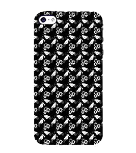 Ifasho Animated Pattern Birds And Flowers Back Case Cover For Apple Iphone 4