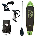 Aqua Marina Inflatable-sup BT-88881P Breeze Stand-up Paddle Board (Sports iSUP paddle-AC-80322 Included), Black