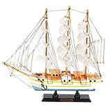 Fenteer Retro Schiffsmodell Segelschiff Segelboot Modell Tischdekoration für Haus, Büro, Zimmer usw. - # C