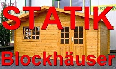 Statik Berechnung Gartenhaus 5 x 5m - 35mm Wandstärke von PRIKKER-Holzmarkt - Du und dein Garten