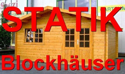 Statik Berechnung Gartenhaus 5 x 5m - 35mm Wandstärke